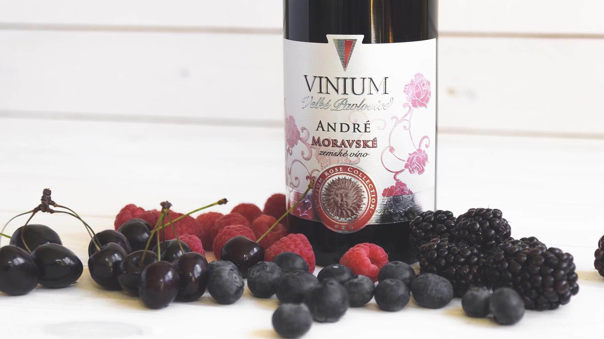 André, zemské víno, Rose Collection – VINIUM Velké Pavlovice
