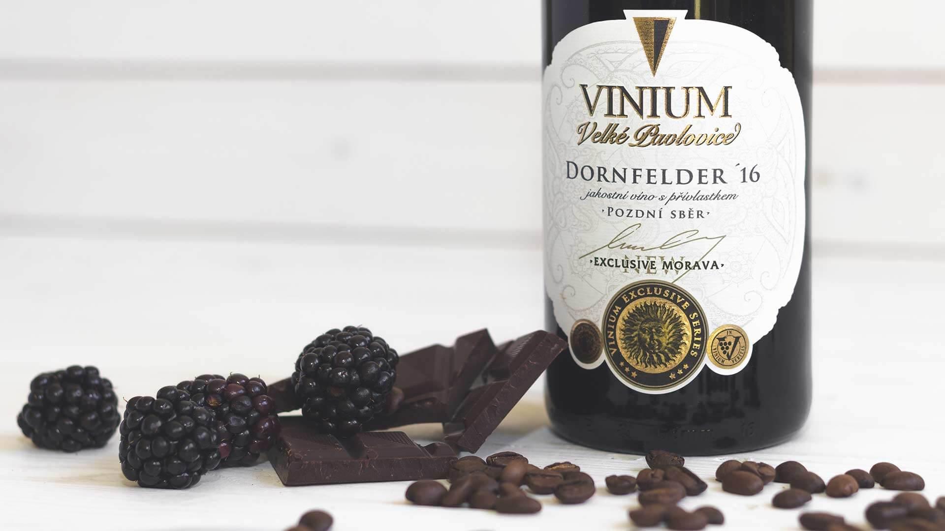 Dornfelder 2016, pozdní sběr, VINIUM Exclusive