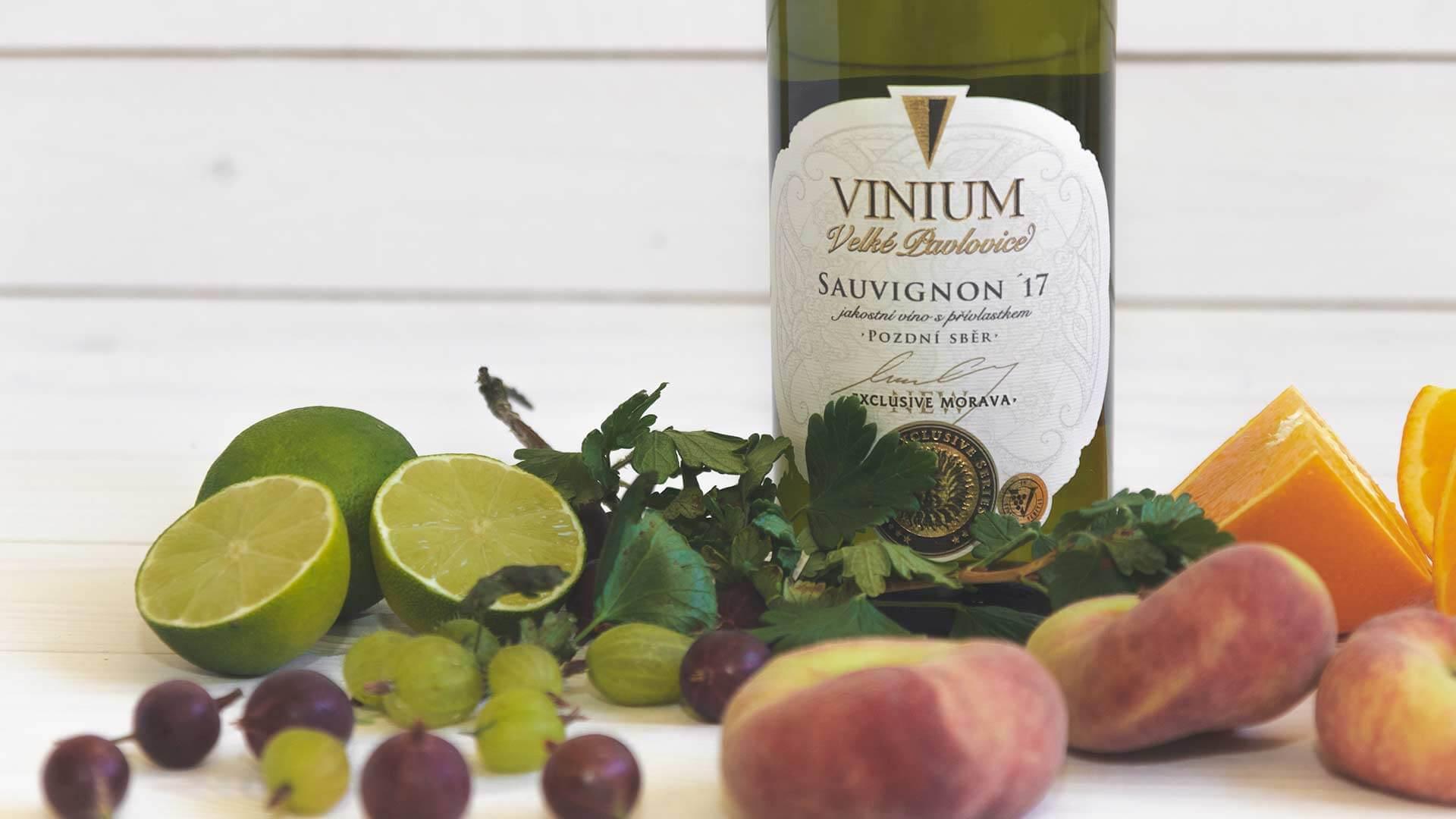 Sauvignon 2017, pozdní sběr, VINIUM Exclusive