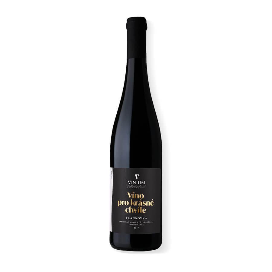 Víno, lahev, Frankovka, pozdní sběr, červené víno, VINIUM, víno pro krásné chvíle