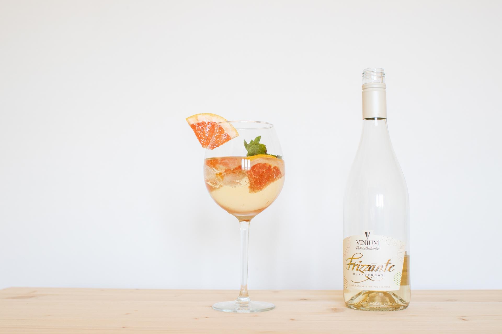Letní drinky, Frizzante, grep, léto, osvěžení, VINIUM