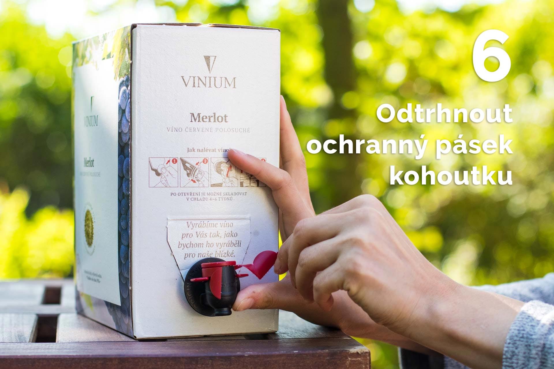 jak otevřít bag in box 6, vinium, návod, víno