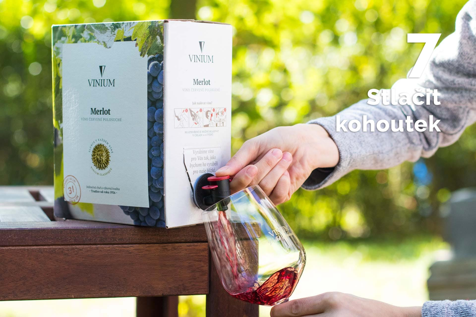jak otevřít bag in box 7, vinium, návod, víno