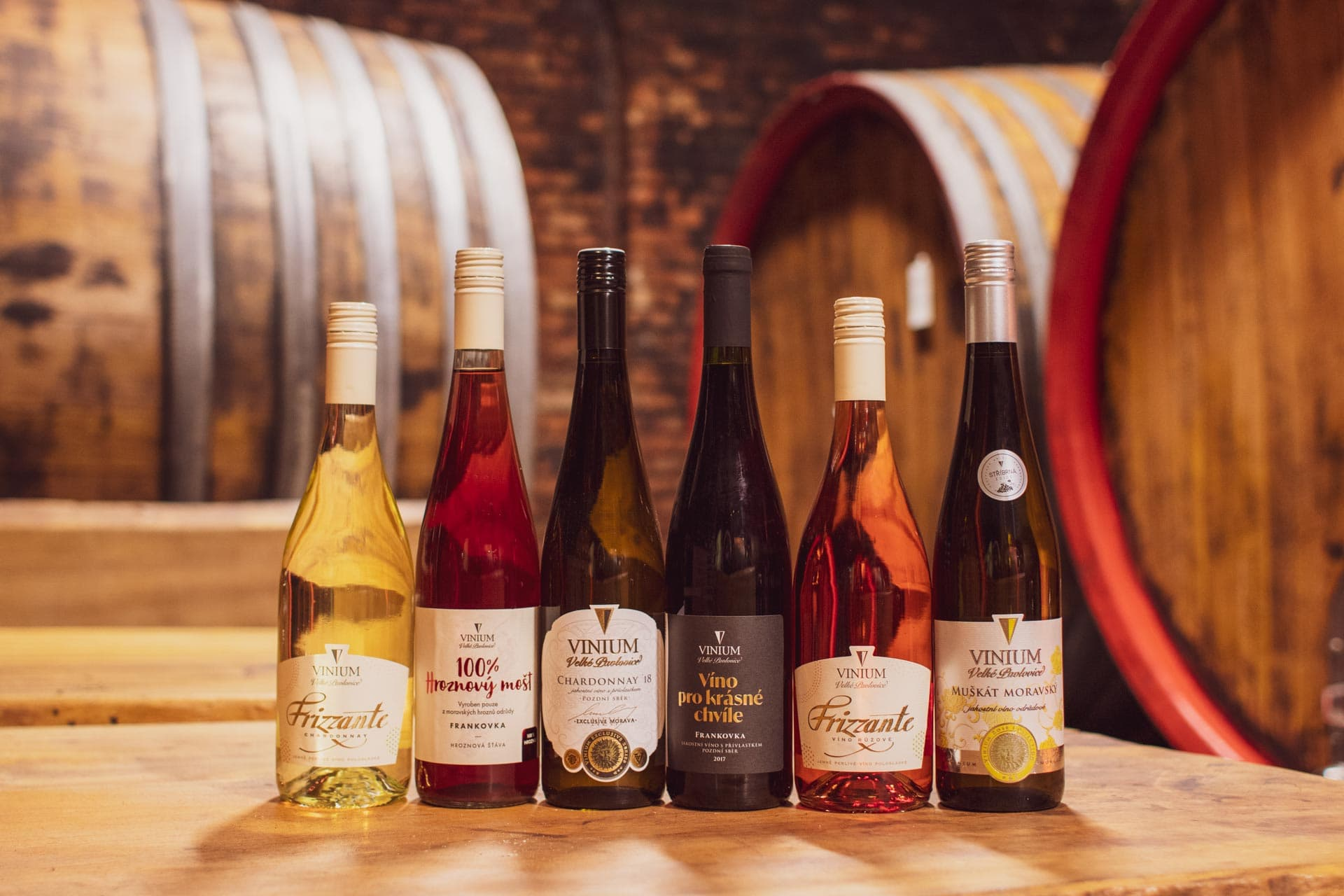 Degustační balíček vín, mix vín, karton vína, přívlastkové víno, frizzante, hroznový mošt, VINIUM