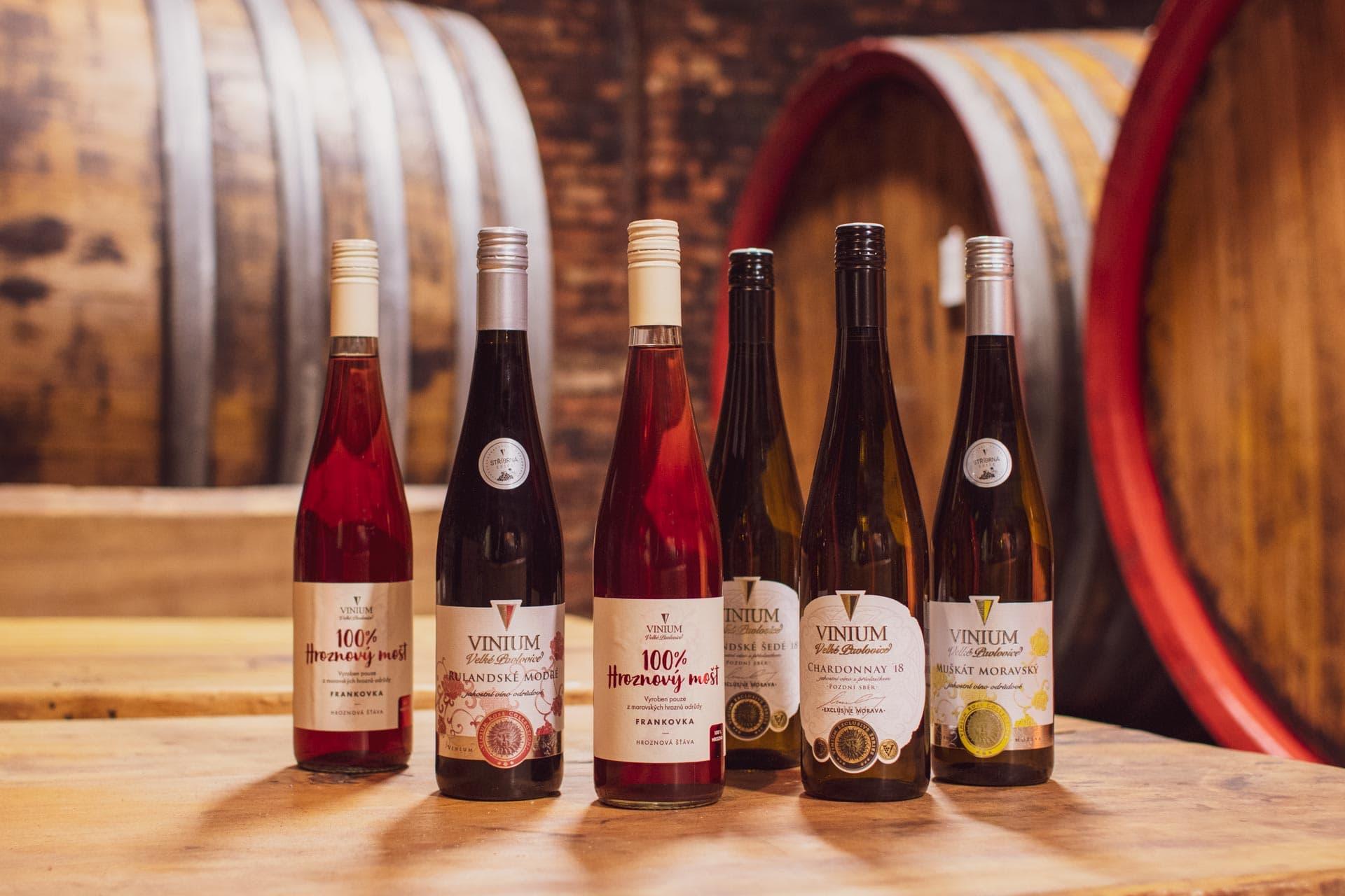 Degustační balíček vín, mix vín, karton vína, přívlastkové víno, hroznový mošt, VINIUM